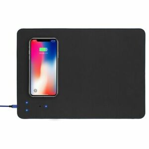Mouse-Pad-w-Qi-Wireless-Charger-PU-Leather-Cordless-Charging-Station
