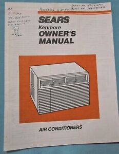 Sears Kenmore Window Air Conditioners Owner S Manual Model