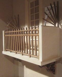 Dolls-House-DIY-Balcony-suits-doors-kit-DHD312-Unpainted