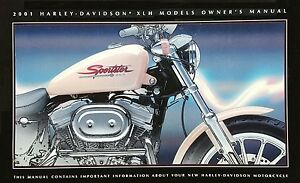 2001 harley sportster xlh883 xlh1200 owner s owners owner manual rh ebay com Cartoon Manual harley davidson sportster owners manual