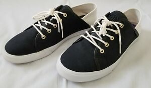 23c628bc8fbb22 Womens Size 8.5M Black White Tommy Hilfiger Canvas Shoes preowned