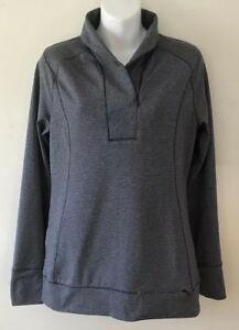 Women-s-Shirt-Cutter-amp-Buck-CB-DryTec-Grey-Long-Sleeved-Size-Small