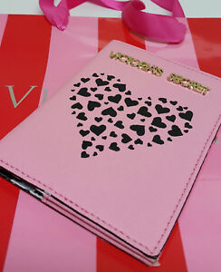 crzyj-Victoria-039-s-Secret-VS-Bi-fold-Passport-Holder-Hearts-Pink