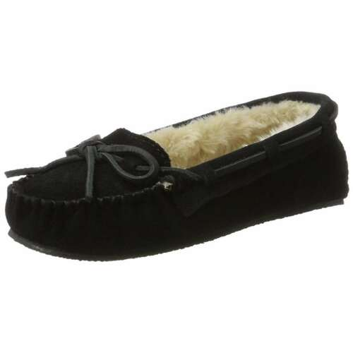 Minnetonka Cally Slippers Women/'s Suede Slip-On Home Mocassin Shoes Flats NEW