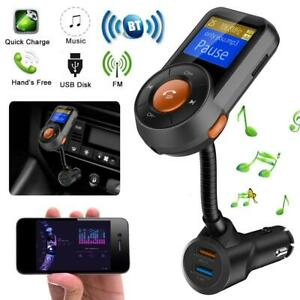 KFZ-Bluetooth-FM-Transmitter-Car-Auto-USB-Charger-Freisprechanlage-MP3-Player-DE