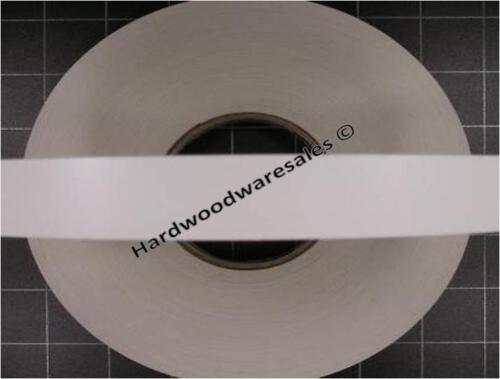 Iron on pré-collé Placage Mélamine Bordure ruban 22 mm blanc