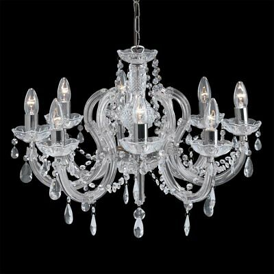 THLC Marie Therese Classic 5 Arm Crystal Chandelier Ceiling Light