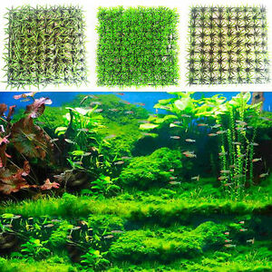 k nstlich unechte unter wasser wasser gras pflanze rasen deko aquarium ebay. Black Bedroom Furniture Sets. Home Design Ideas