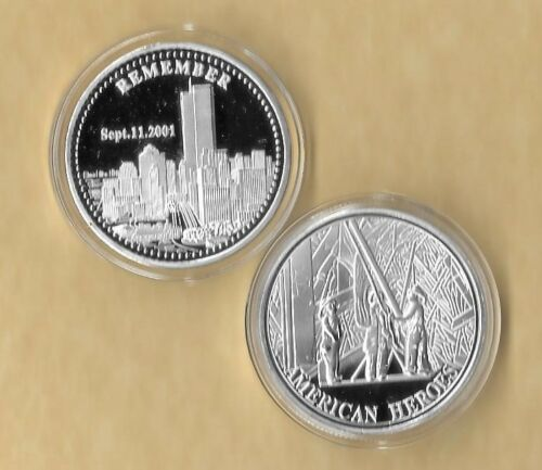 Remember 911 911 Challenge Commemorative Medallion Silver Coin New