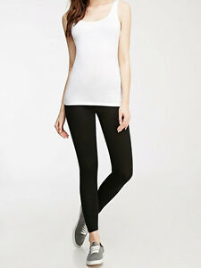 30-OFF-AUTH-FOREVER-21-CLASSIC-COTTON-BLACK-LEGGINGS-SMALL-BNWT-US-6-90