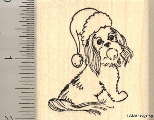 Shih Tzu Puppy dog Thanksgiving Rubber Stamp K14703 WM