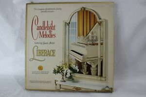 Candlelight Melodies Featuring Liberace 4 Record Box Set The Longines Sym Soc.