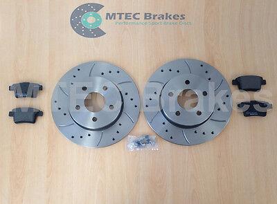 Front Rear Brake Discs+Pads Compatible With Jaguar X Type 2.2d 09//05