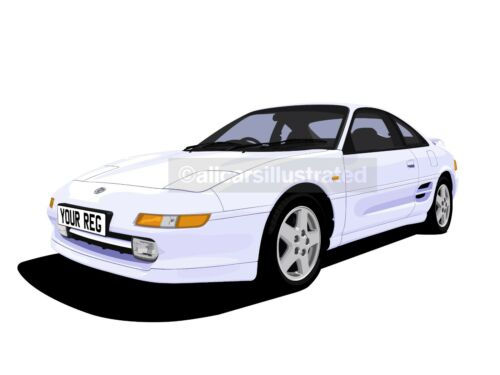 PERSONALISE IT! TOYOTA MR2 CAR ART T-SHIRT