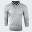 Para-hombre-Plain-Pique-Polo-Gavin-camisa-de-mangas-largas-Top-Calido-Azul-Marino-De-Golf-S-M-L-XL miniatura 32