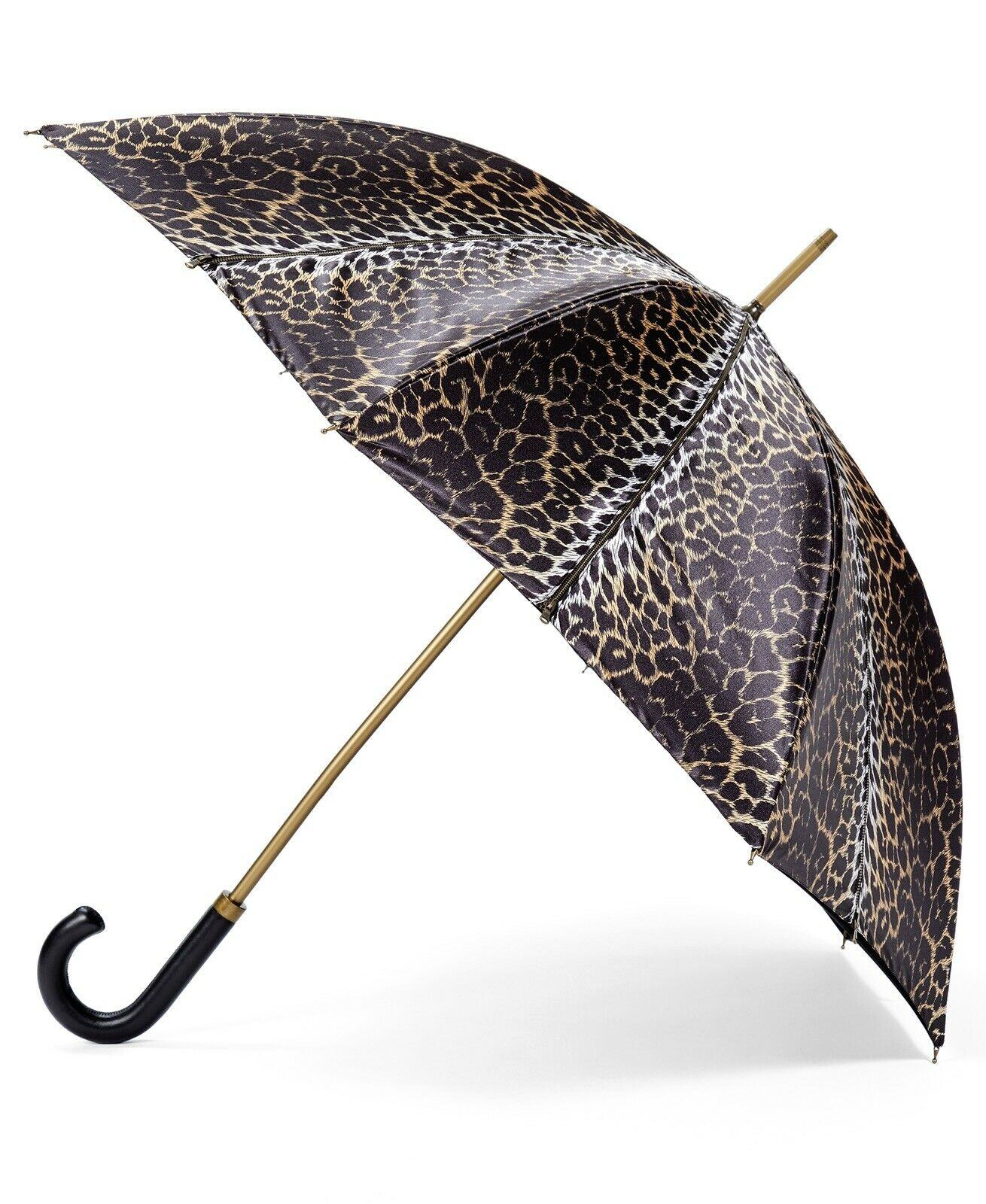 Jeremy Scott Double Layered Sheen Leopard Stick Umbrella