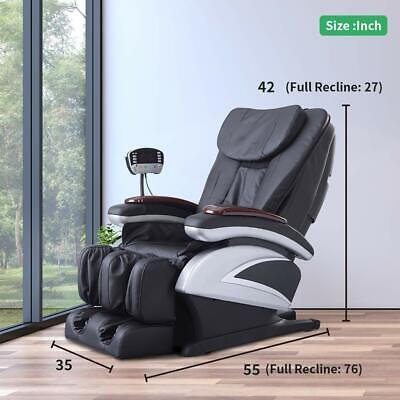 New Electric Full Body Shiatsu Massage Chair Recliner Heat Stretched Foot Rest Ebay