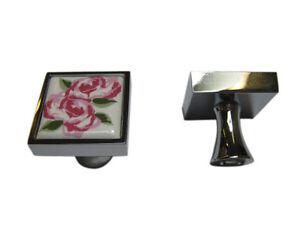 Moebelknopf-Moebelgriff-Moebelgriffe-Moebelknoepfe-Griff-Knopf-Porzellan-Rosa-Blume