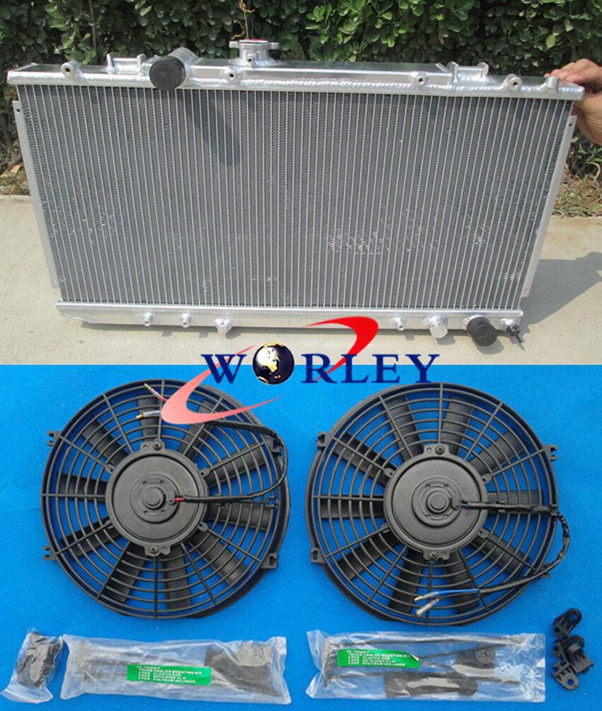 Aluminum radiator for 1994-1999 Toyota Celica ST205 3S-GTE GT4 MT Fans 1997 98