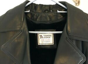 Tanners-Avenue-Leather-Coat-Black-Large-GREAT-DEAL