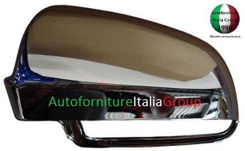 CALOTTA SPECCHIO RETROVISORE SX CROMATA LUCIDA AUDI A3 3P 03/>08 2003/>2008
