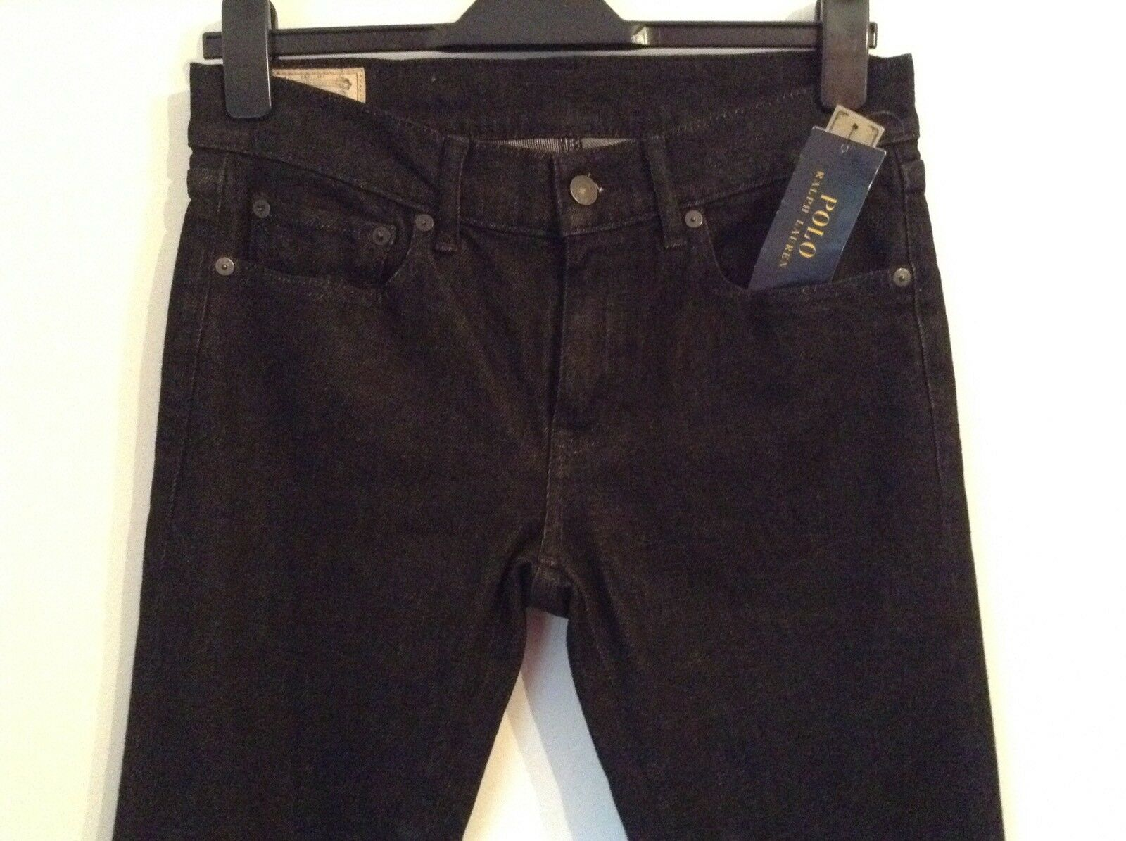 BNWT 100% auth Ralph Lauren schwarz Fringe Slim Fit  Jeans. 28