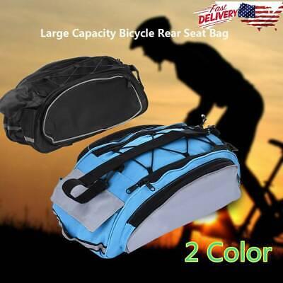 2 Colors Bicycle Rear Seat Saddle Bag Shoulder Handbag Cycling Storage Pannier