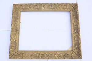 Vintage-French-Gold-Wood-Ornate-Picture-Frame-21-7x25-4inch