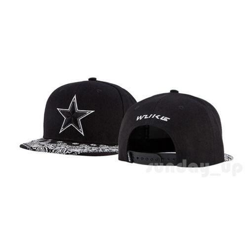 Men Women Paisley Hip Hop Snapback Hats Baseball Flat Caps STAR Embroidery Visor