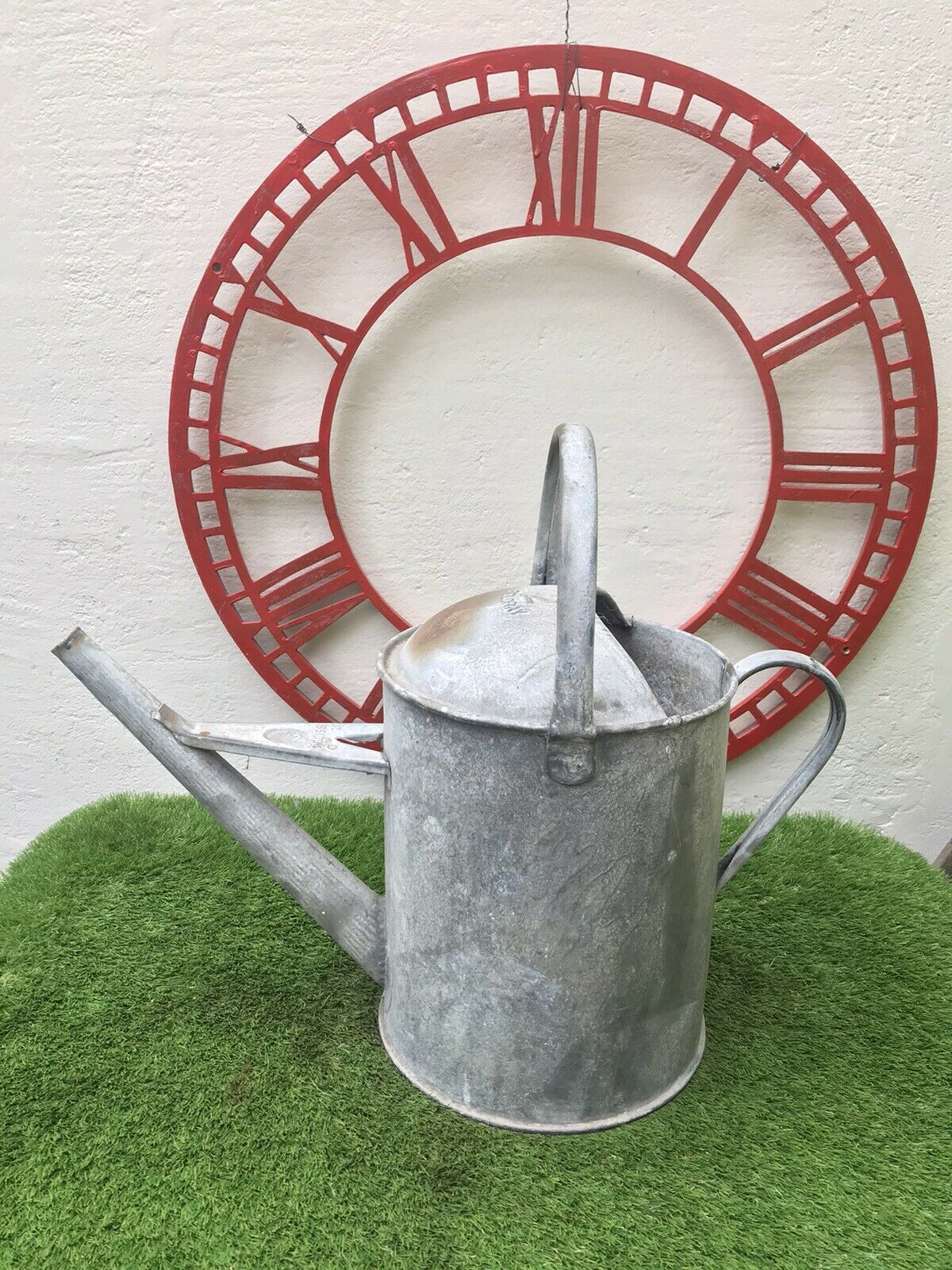 Vintage Galvanised Beldray 2 Gallons Short Reach Garden Watering Can