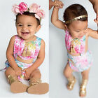 0-24M Baby Girls Sets Ruffles Romper Outfits Clothes Flower Strap One-Piece Set