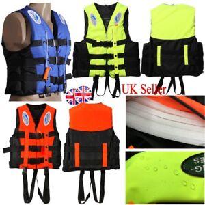 Universal Durable Youth Kids Polyester Life Jacket Swimming Boating Ski Vest UK