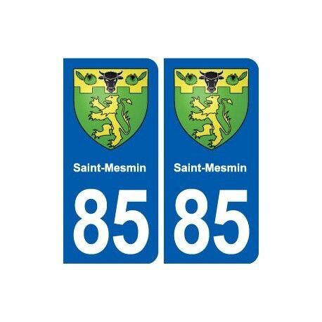 85 Saint-Mesmin  blason autocollant plaque stickers ville arrondis