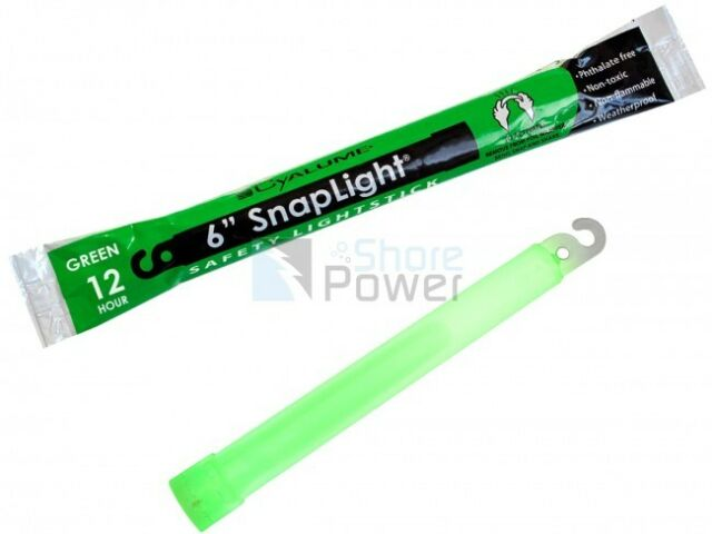 10 Green 12 Hour Cyalume SnapLight Lightsticks Emergency Survival Safety Lights.