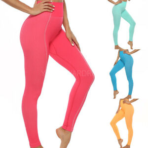 New-Women-039-s-High-Waisted-Yoga-Pants-Seamless-Push-Up-Leggings-Sports-Fitness-Gym