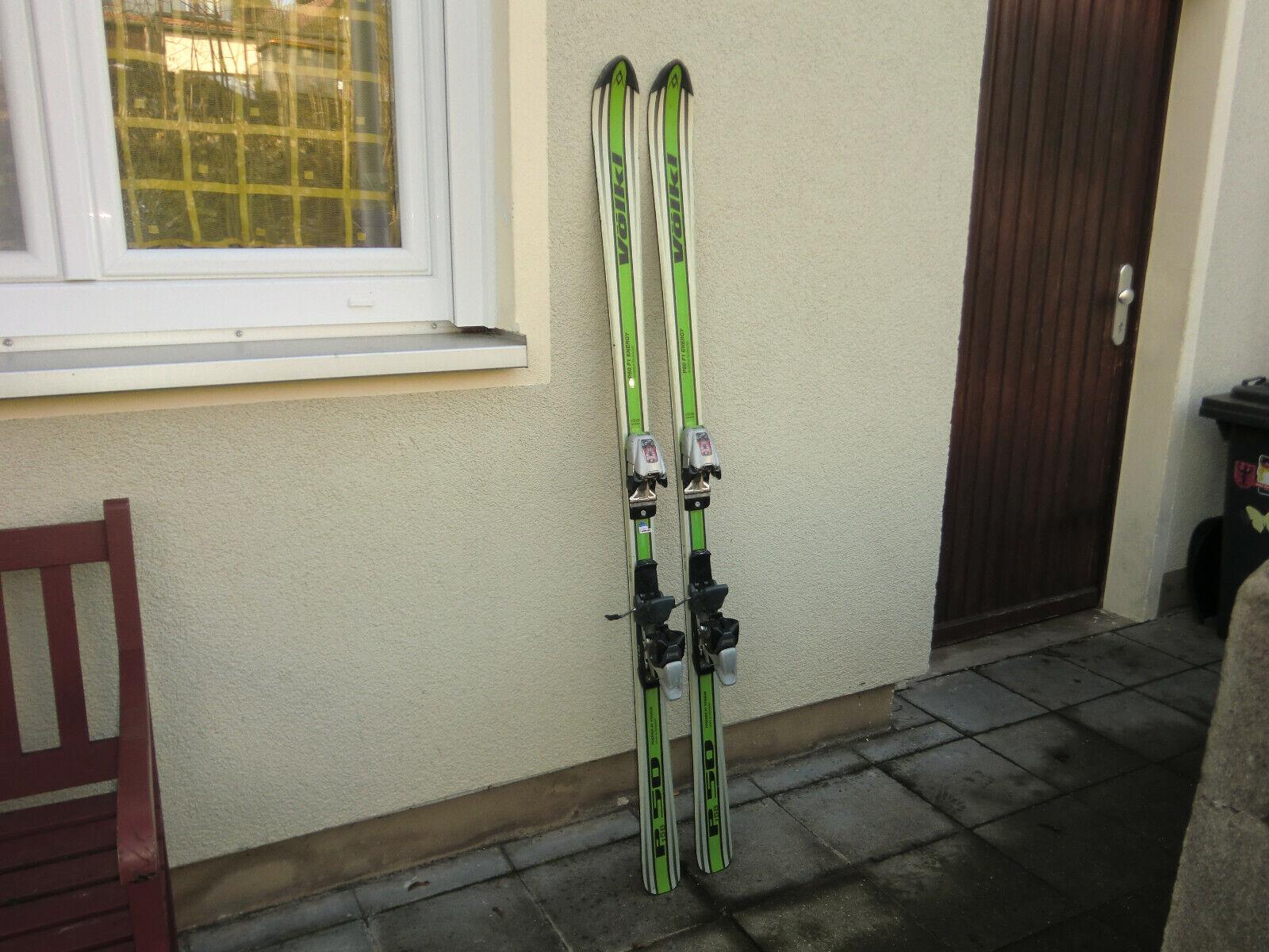 Ski Alpinski Carvingski Carverski VÖLKI  P 50 F1 ENERGY  , 158 cm, mit BINDUNG