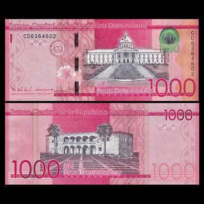 Dominican Republic 1000 Pesos Dominicanos P-193-New UNC 2017 2016