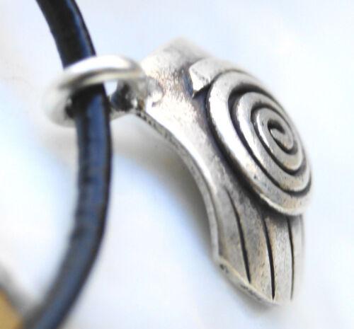 Silber Kleiner Anhänger Muschel 2 x 1,5 cm Amulett Spirale Keltisch Gothic Kette