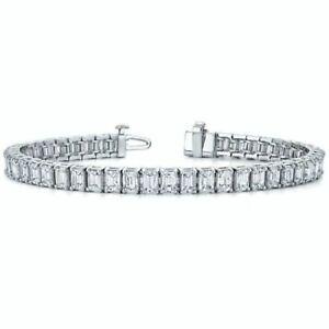 6-00-Ct-Emerald-Cut-Diamond-14K-White-Gold-Fn-Womens-Tennis-Bracelet-7-034