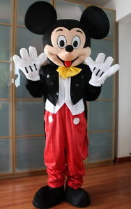 【Top Sale】Mickey Mouse Mascot Costume Adult Size Christmas Party Dress No Head