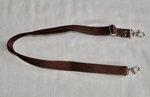 BROWN-SHOULDER-NECK-STRAP-METAL-CLIP-W-20-mm-FOR-DSLR-SLR-CAMERA-NEW-NC127