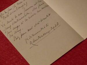 Letter Autograph Signed Robert Vallery-Radot 1927 3pp