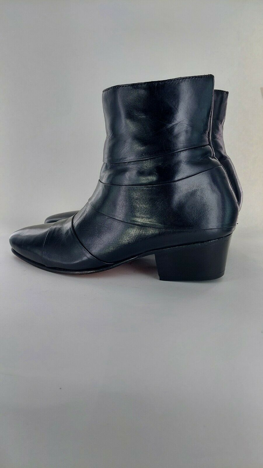 Club Cubano ANGELO Mens Leather Smart Cuban Heel Ankle Boots UK Size 762