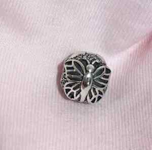Pandora-Genuine-ALE-925-Silver-Lacewing-Butterfly-Clip-791256-retired