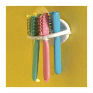 Dolls House 5796 Zahnbürsten (4 St.) mit Halter 1:12 für Puppenhaus NEU! #