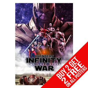 THE AVENGERS INFINITY WAR POSTER BB1 PRINT A4 A3 BUY 2 GET ANY 2 FREE