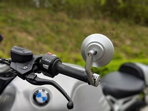 CNC-Silver-Bar-End-mirrors-BMW-r-ninet-r-nine-t-genuine-quality-pair-HJR-Product