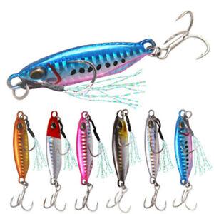 16g-32g-Colorato-Esche-da-pesca-in-metallo-piuma-Piombo-Esche-Spinning-Jig-Bait