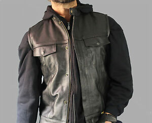 Sons-of-Anarchy-Vest-Biker-Vest-Leather-High-Quality-perfect-for-Harley-Davidson