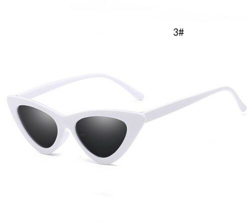 Womens Vintage Retro Cat Eye Triangle Sunglasses UV400 Eyewear Glasses